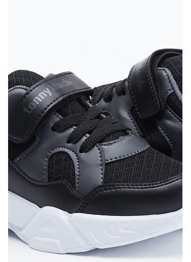 Tonny Black Siyah Beyaz Çocuk Spor Ayakkabı Tb0019 Siyah